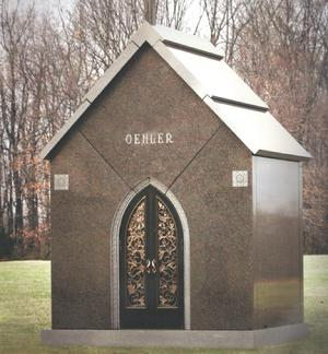 6 CRYPT WALK IN CANADIAN MAHOGANY GRANITE MAUSOLEUM