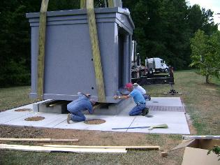 setting granite mausoleums