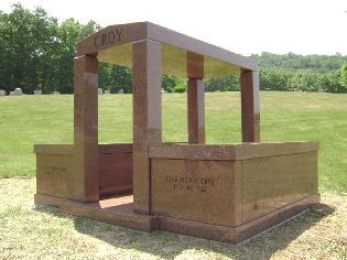 2 TOMB MAUSOLEUM MISSOURI RED GRANITE POLISHED
